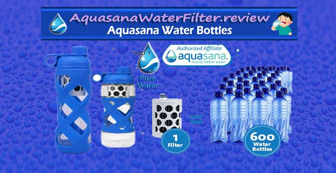 Aquasana glass water bottles